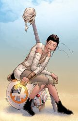 Rey and BB-8 by DashMartin