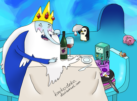 Adventure Time: BMO and Ice King on a date by Krokodoko