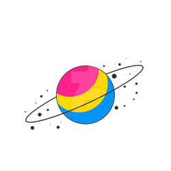 Pansexual Pride Planet by MitranarChaos