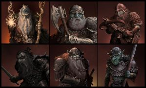 Dark Dwarves by JohnDotegowski