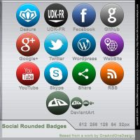 Free Social Rounded Badges by JpotatoTL2D