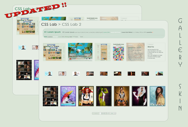 Clean and Stylish Gallery CSS Vol.1.4 by poserfan