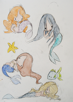 little mermaids by LL0ND0N