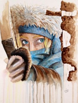 Hanna Painting Watercolor by LordColinOneal