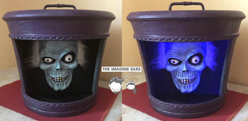Haunted Mansion Hatbox Ghost head by TheImagineEars