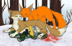 Squirrelflight and Leafpool by Do-omed-Moon