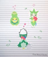 Budew/Roselia/Roserade Stickers and Magnets