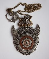 Winged chest piece tattoo necklace III by Pinkabsinthe