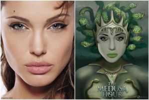 Angelina Jolie Medusa Poster by MAEDesign
