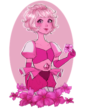 Pink Diamond (Sticker Available) by All-The-Fish-Here