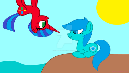 Water Gem And Arunika At The Beach by ioveanimals100