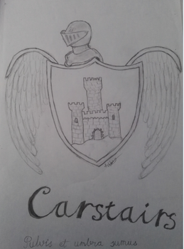 Carstairs family crest (sketch) by amoregirltje