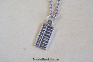 Tiny Abacus Counting, Math Necklace by MonsterBrandCrafts