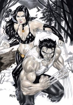 Wolverine and X-23 by Fredbenes