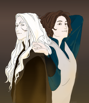 Liaman and Hannah by anvemi