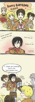 Mikasa's Birthday! Shingeki no Kyojin by minibuddy