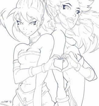 Square's PoofyPants Princesses WIP by wakdraws