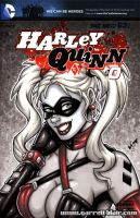 French Harley bust sketch cover by gb2k