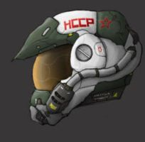 Neo-Soviet Flight Helmet by PrinzEugn