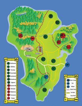 Jurassic Park Map by TheEin