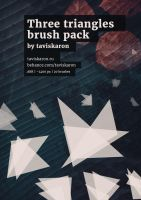 three triangles brush set by taviskaron