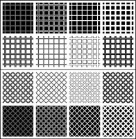 Unrounded Squares Patterns by wuestenbrand