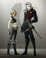 Zleth and Reichnart by nell-fallcard