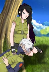 Stella and Kakashi by StellaSayuri-Enshant