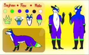 Sayhaw The Fox, unfinished reference sheet. by BittyMillie