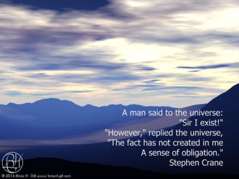 A Man Said to the Universe by Norski