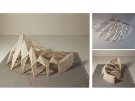 Ferry Terminal-Structure Model by m-yun