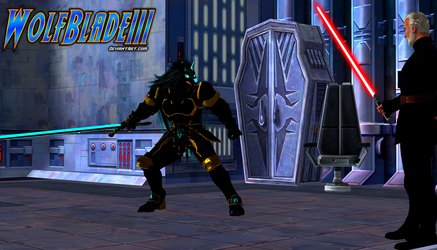 Wolf Blade vs Count Dooku by WOLFBLADE111