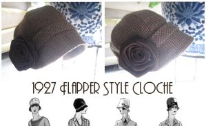 Flapper Cloche Hat by Archer-1