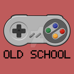 Oldschool gaming - Super Nintendo controller by null-painter