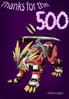 500 Hit Kiriban by GhostLiger