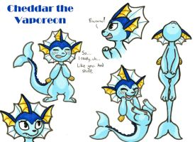 Cheddar the Vaporeon by owlburrow