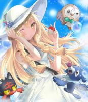 Pokemon Sun and Moon -Trainer Lillie Fanart by Fhilippe124