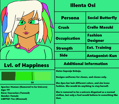 Illenta Osi's 1st Profile by jaybirdking85