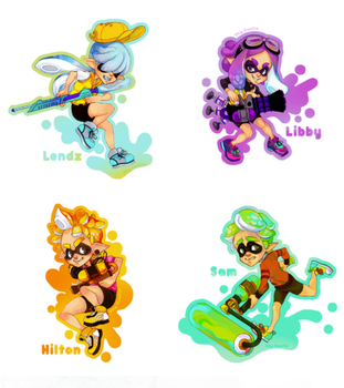 Squid Kid OCs! by ShyCustis