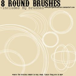 8 Round Brushes by PartyWithTheStars