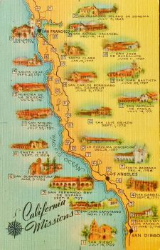 Vintage California - Missions by Yesterdays-Paper