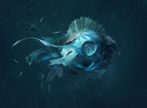 Deep Ocean Lifeform by Juhupainting