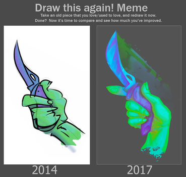 draw this again  (knife) by BuduFamousPosleDeath