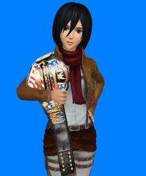 ACW SD! - Mikasa Ackerman (US Champion) by JoeyTribbiani125