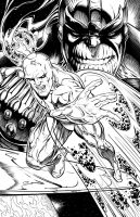 Silver Surfer and Thanos by RAM - Inked by robertmarzullo