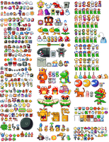 Mario series sprites by ShyKitty20