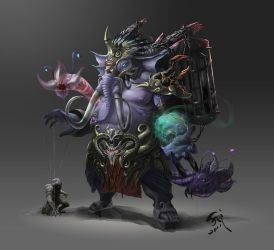 The elephant sorcerer by phoeni-x-man