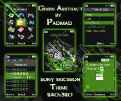 Green Abstract - 240x320 theme by padmad