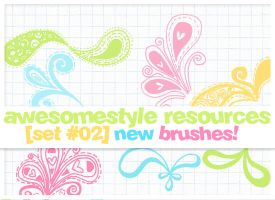 brushes set 02 by awesomestyle