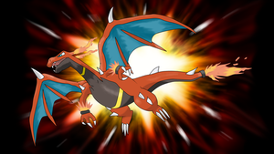 Mega Charizard (pre-reveal fan made) by TheAngryAron